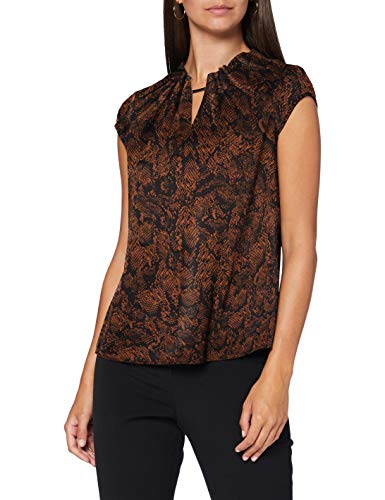 comma Damen 85.899.12.1331 Bluse, 99B5 Black, 34
