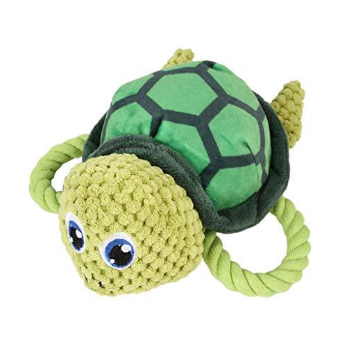 LOVIVER Plüschtier Hundespielzeug mit Quietscher für kleine bis große Hunde - Schildkröte