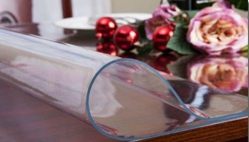 Ertex Tischdecke Tischfolie Schutzfolie Tischschutz Folie transparent 100cm Breit ca.2.5mm (180cm)