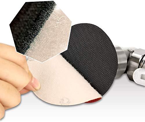 mini lijadora, Lijadora de Aire Orbital Aleatoria, 25mm/50mm/80mm Lijadora angular neumática con 36 discos de lijado de grano mixto y 3 almohadillas de respaldo -OASOSS3SET