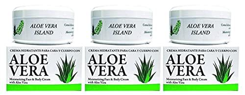 Bionatural Aloe Vera Island Crema Hidratante Cara y Cuerpo - 200 ml pack 3 unidades