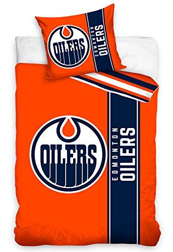 Official Merchandise Bettwäsche NHL Edmonton Oilers Belt, 135x200 + 80x80 cm