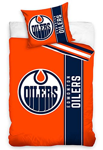 Official Merchandise Bettwäsche NHL Edmonton Oilers Belt, 135x200 + 80x80 cm