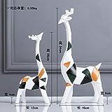 Yukie Resina de Tipo 2ST Nordic Elk Elefante Head Bola de Cristal Origami Decoraciones de artesanía de Algunos Estatua Studienbüro Adornos de joyería,C-2ST