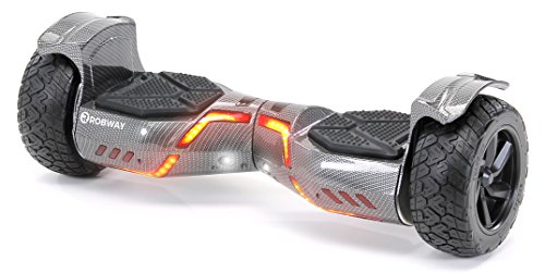 Robway X2 Hoverboard - Das Original - Offroad Edition - Samsung Marken Akku - Self Balance - Bluetooth Lautsprecher - 700 Watt Motor - App - Led (X2 Carbon, Offroad)