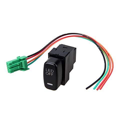 Interruptores de coche y relés 1 unid 12 V coche LED niebla luz interruptor basculante encendido/apagado para Mitsubishi Pajero Lancer