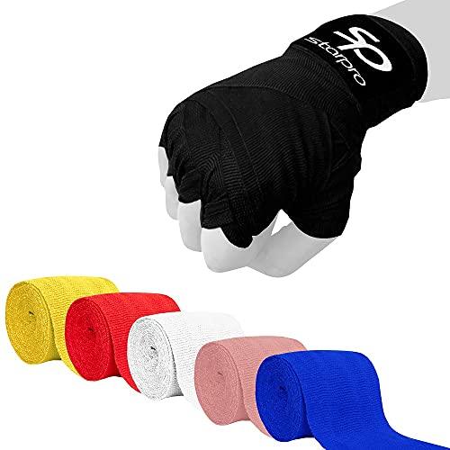 Starpro Fasce per Mani messicane Thump n 'Loop | Bende in Cotone Tessuto di Carbonio | Multi Colori | for Boxe Sparring Muay Thai Kickboxing Karate Arti Marziali Palestra Fitness | 2.55m 3.5m 4.5m