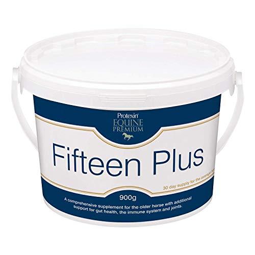 Protexin Equine Premium Fifteen Plus dagelijks poeder voor oudere paarden- voor darm, immuun en gezamenlijke ondersteuning - 900g kuip