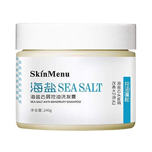 Symeas Crème de shampooing antipelliculaire au sel de mer Soulager les démangeaisons Lutte contre la perte des cheveux Exfoliating Degreases Scalp Shampoo