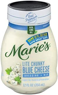 MARIE'S REFRIGERATED SALAD DRESSING CHUNKY BLUE CHEESE LITE 12 OZ PACK OF 3