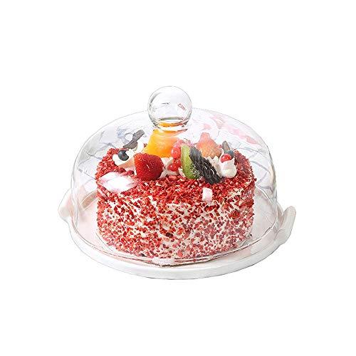 Soul hill Bruchresistenter durchsichtiger Kunststoff Kuchenplatte mit Deckeln, Covered Dessert Anzeige, Kuchen-Gebäck und Kuchen Server mit Domen, 11.8