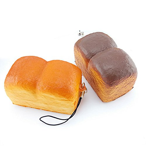 Panghuhu88 Mini Loaf Simulation Soft Cell Phone Charm with Bread Toast Strap 5cm