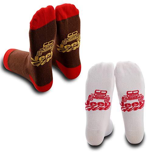 Unbekannt GJTIM Jeep Mädchen Geschenk Jeep Zubehör Jeep Besitzer Geschenk Jeep Mädchen Socken Jeep Geschenk für Mädchen - Weiß - Mittel