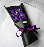 CPFYZH Niedliche Plüsch Bär Puppe Spielzeug Seife Rose Bouquet Hochzeitsgeschenk für romantischen...