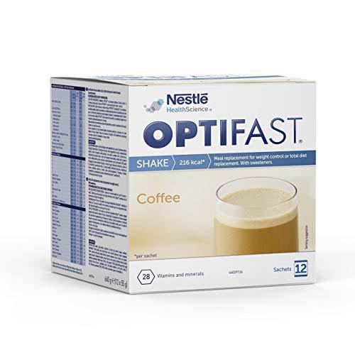 Optifast® Batido - Café - 12 sobres de 55 g - Sustitutivos de comida - Ayuda para perder peso o a mantenerlo después de haberlo perdido