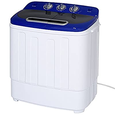 Display4top Portable Compact Mini Twin Tub Washing Machine and Spin Cycle w/Hose,3.6KG washer and dryer