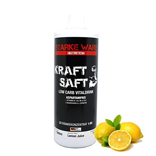 Starke Ware Kraftsaft Mineraldrink Mineralgetränk Low Carb Vital Drink 1:80, 1000ml Sirup Konzentrat (Lemon Juice (Zitrone))