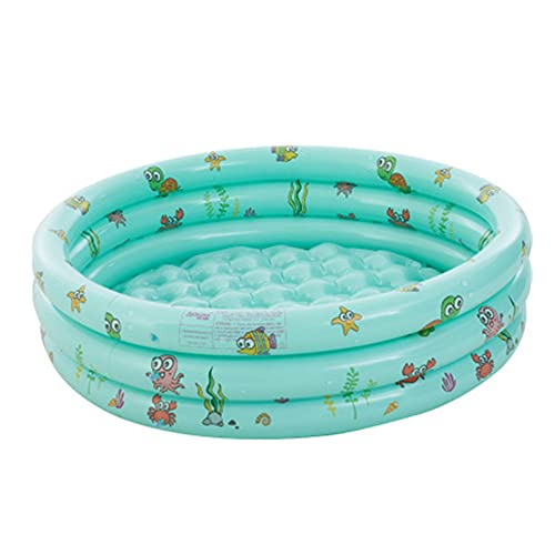 FBBA Inflatable Paddling Pool for Kids Baby,Kiddie Swimming Paddling Pool,Three Ring Baby Swimming Pools for Gardens Outdoor Backyard,130 x 130 x 40cm(Green)
