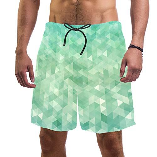 Pantalones cortos de playa de surf para hombre, de secado rápido, con fondo natural abstracto