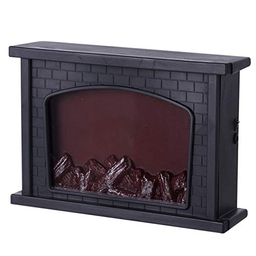 Guajave Wall Mounted Electric Fire, Wide Electric Fireplace Insert, Led Simulation Fireplace Flame Light Nordic Style Christmas Ornament Home Decoration