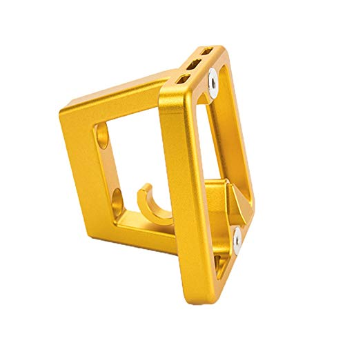 TOOGOO Aluminum Alloy Folding Bike Front Carrier Block Holder for Brompton Bicycle Front Carrier Holder-Gold
