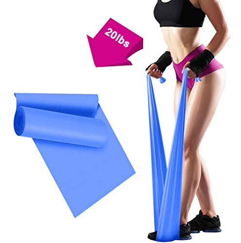 ERUW Bandas Elasticas Fitness, 2M Banda Elastica Resistencia Musculacion para Hombre, Mujer, Ejercicios de Musculares, Glúteos y Yoga Entrenamiento Bandas en Casa y Gym Pilates, Estiramiento (Blue)