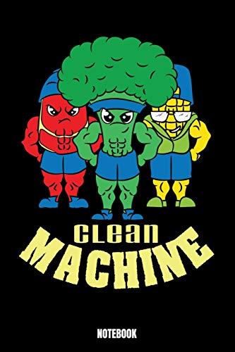 Clean Machine Notebook: Gym Notizbuch: Notizbuch A5 karierte 110 Seiten, Notizheft / Tagebuch / Reise Journal, perfektes Geschenk für Sie, Ihre ... gehen und Gewichte heben. Perfekt für Gymnas