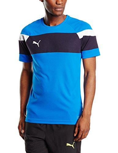 PUMA para hombre T-Shirt Spirit II de deporte, Azul / Blanco, M