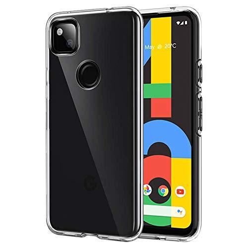 ANEWSIR Hülle Kompatibel mit Google Pixel 4A Hülle, Transparent Hülle Case TPU Schutzhülle Dünn Schlank Weich Flexibel Anti-Kratzer Schutzhülle Abdeckung Crystal Clear Case Cover.