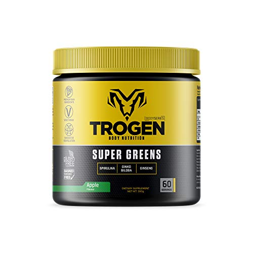 Super Greens Meal Replacement - 300g Tub 50 Servings - Apple Flavour - Trogen Sport.