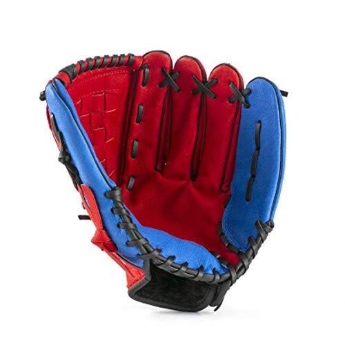 DWST Engrosadas Guantes de béisbol Softball Niños Jóvenes Adultos Catcher infielder Jarra del béisbol Guante de Deportes al Aire Libre Práctica Equipo Espesar (Color : Red, Size : S)