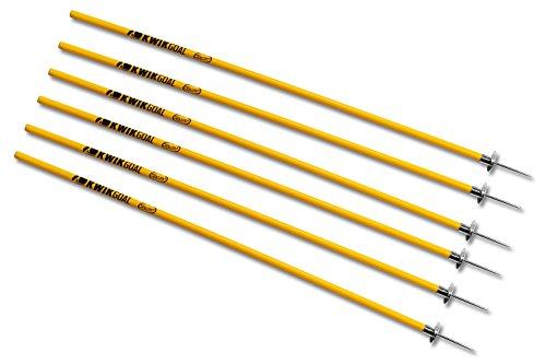 Kwik Goal Coaching Sticks (Yellow) ,60-Inch H x 1-Inch