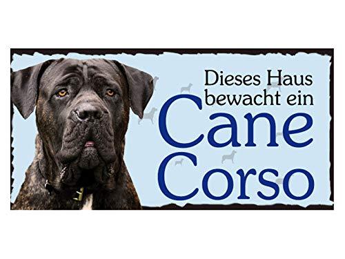 Türschild Cane Corso (65) aus Holz Schild Hund deutsche Herstellung