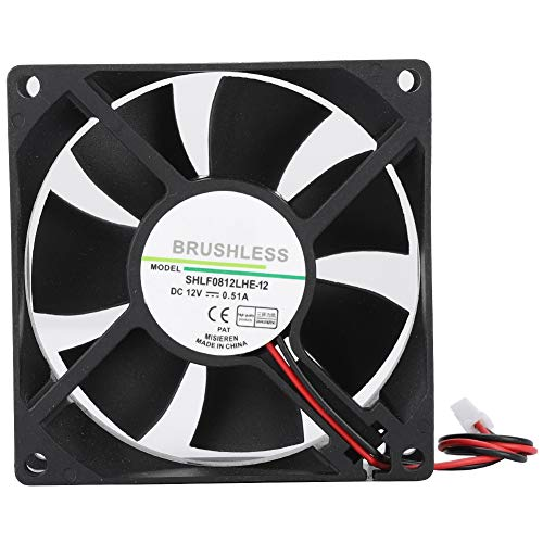 Ventilation Fan, DC12V Quiet Heat Dissipation Cooler for Chassis Cooling, CPU Heatsink, Power Fan Modification, Water Cooling,Game Machine Cooling