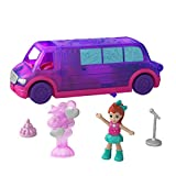 Polly Pocket Pollyville Party Limo with Play Areas, Lila Doll & More