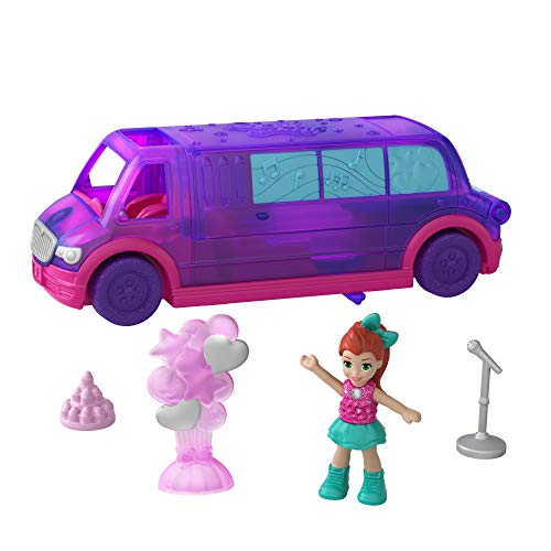 Polly Pocket GGC41 Pollyville Party Limo with Play Areas,...