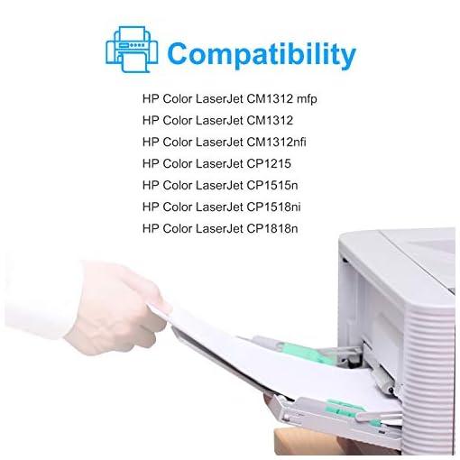 Sizzler Compatible HP 125A Cartucho de tóner CB540A CB541A CB542A CB543A para HP Color LaserJet CM1312 CM1312 mfp… 2