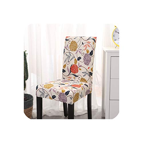 Kitchen Chair Covers Stretch Furniture Covers Towel Chair House Stool Chair slipcover Chair Cover Spandex 1/2/4/6 pcs,Color 14,6 pcs Chair Covers
