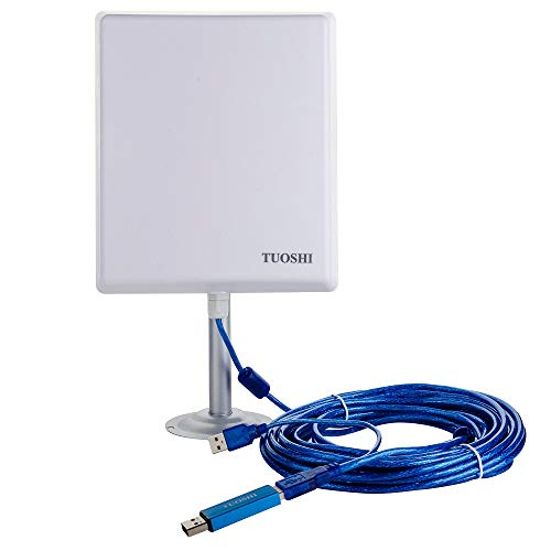 TUOSHI 2.4Ghz Outdoor Long Range Wi-Fi Antenna N4000 | 36dBi High Gain USB Wi-Fi Extender Antenna for RV & Marine & PCs