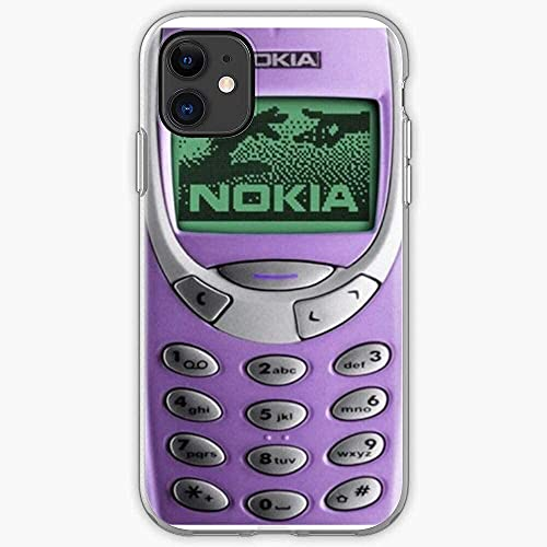 Compatible con iPhone Samsung Xiaomi Redmi Note 10 Pro/Note 9/8/9A/Poco M3 Pro/Poco X3 Pro Funda Yzz Case Purple Cover Vintage 3310 Nokia Cajas del Teléfono Cover