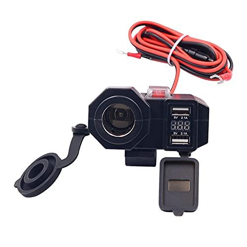 Jula 12V-24V USBオートバイのタバコライターチャージャーLED表示パワーバンクのシガーライターソケットのスプリッタカバーアダプター