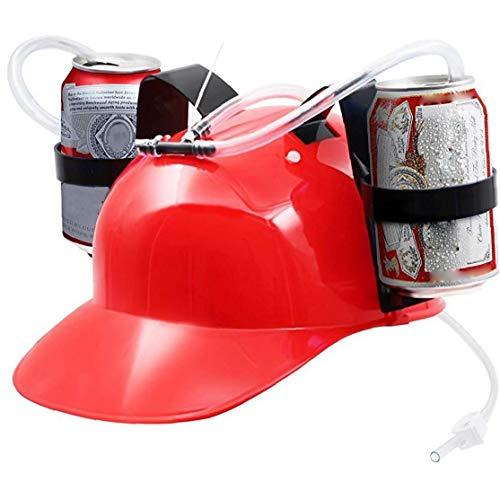 Guzzler Trinken Helm halten kann Trinker-Hut-Kappe mit Pfeife für Bier und Soda Halloween, Weihnachten, Rot Startseite Versorgung