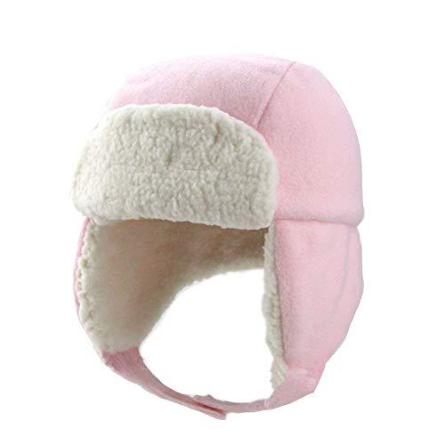 Ommda Wintermütze Baby Mädchen Beanie Winter Ohrenklappen Kinder Russisch Hut Fellmütze Baby Mädchen Kunstfell Pink C 0-6 Monate