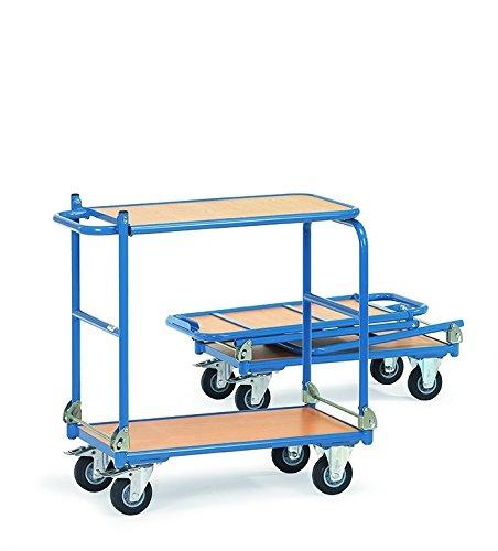 fetra 1140 Tischwagen KW 4, 2 Etagen, klappbare Tischplattform