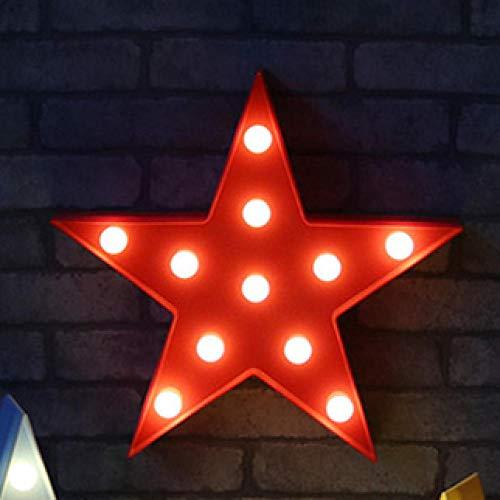 Veilleuse Belle Nuage Étoile Lune Led 3D Lumière Veilleuse Mignon Enfants Cadeau Jouet Pour Bébé Enfants Chambre Décoration Lampe Éclairage Intérieur-Étoile Rouge