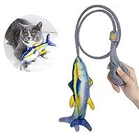 猫じゃらし ABsuper 猫用おもちゃ 魚形おおもちゃ 柔らか材質で作れる キャットニップの葉を入れる 猫は遊びが楽しむ 爪磨き・噛むおもちゃ ペット玩具 運動不足/ストレス解消/知育玩具