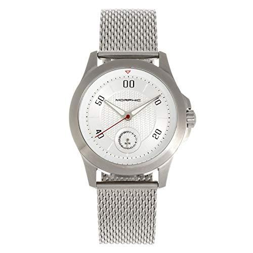 Morphic The M80 Series Bracciale Watch w/Date, Argento/Argento/Bianco/Nero...