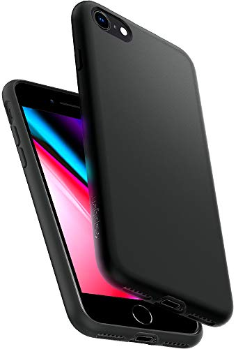Spigen Liquid Crystal Kompatibel mit iPhone SE 2020 Hülle, iPhone 8/7 Hülle TPU Silikon Handyhülle Leicht Dünn Schutzhülle Hülle Schwarz 042CS21247