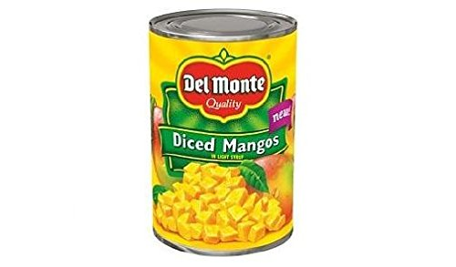 Del Monte Diced Mangos in Light Syrup (Pack of 2) 15 oz Cans