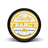 Lucky Franc's Alternative Water Based Hair Pomade Medium Hold Medium Shine Handmade in USA 4oz. Pompadour Side Comb Slick back Old School looks for men . Easy wash out. 1920's barbershop manly scent.